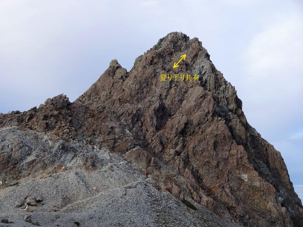 槍の穂先の上り下り共有区間