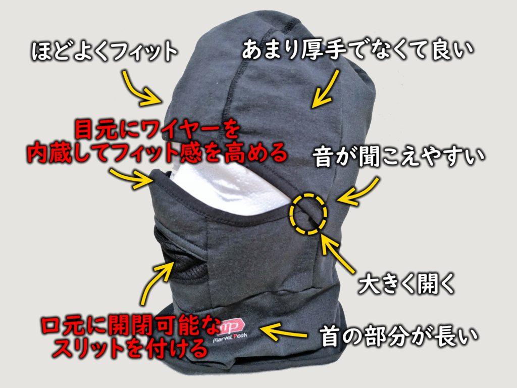 理想のバラクラバ(目出し帽)