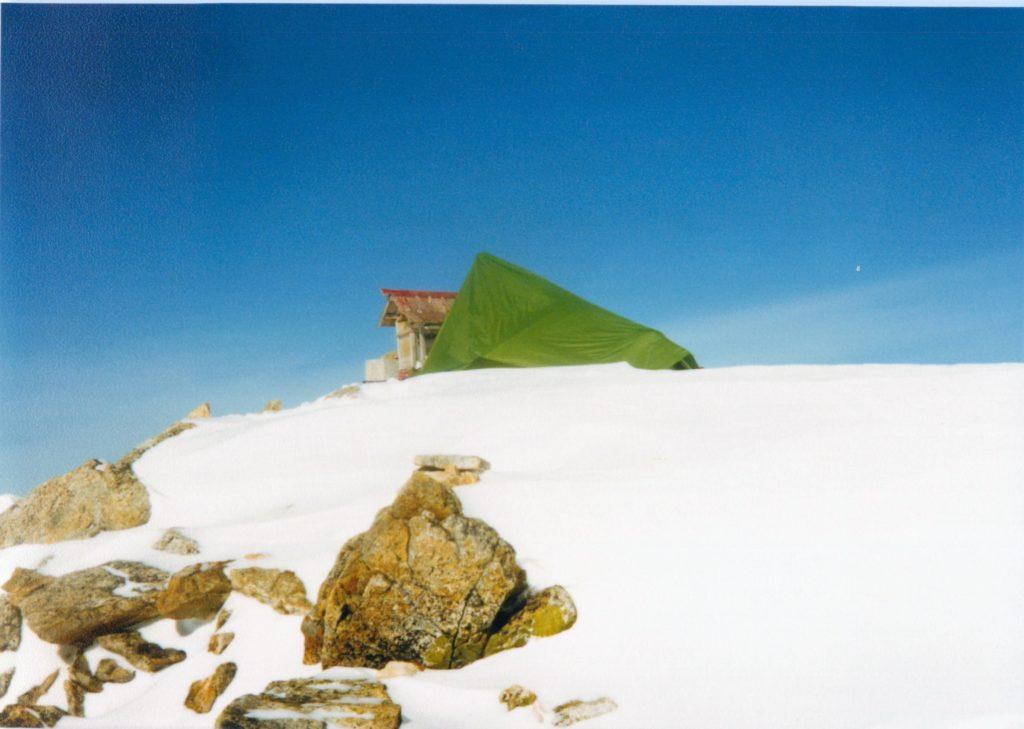 北アルプス・大天井岳頂上(2月)