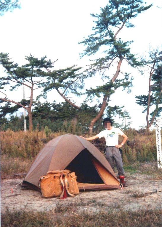 十六本松キャンプ場のドーム型テント