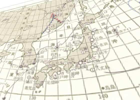 古い天気図用紙