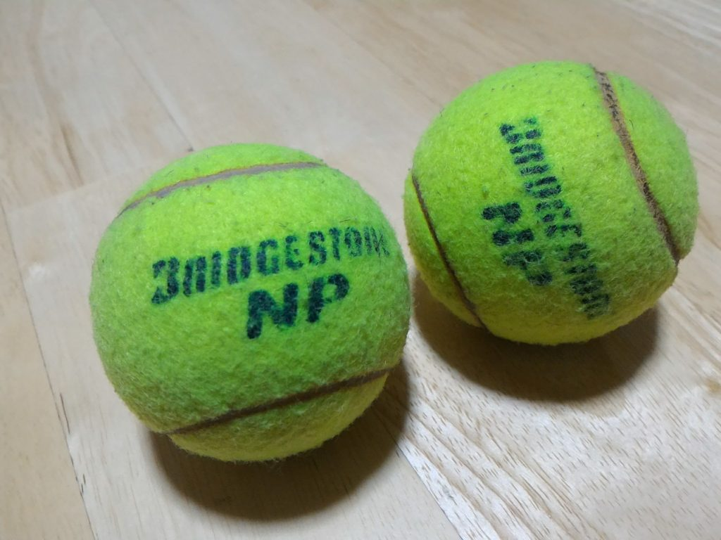 テニスボールはマッサージにも利用できます。